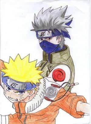 Kakashi und Naruto