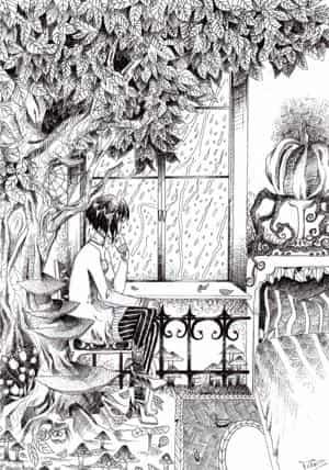 Innen der Wald