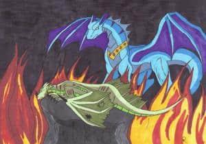 Tod im flammen meer