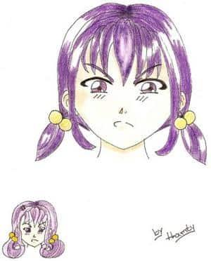 Girl in lila