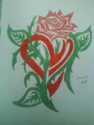 Rose?... Herz?... Beides^^