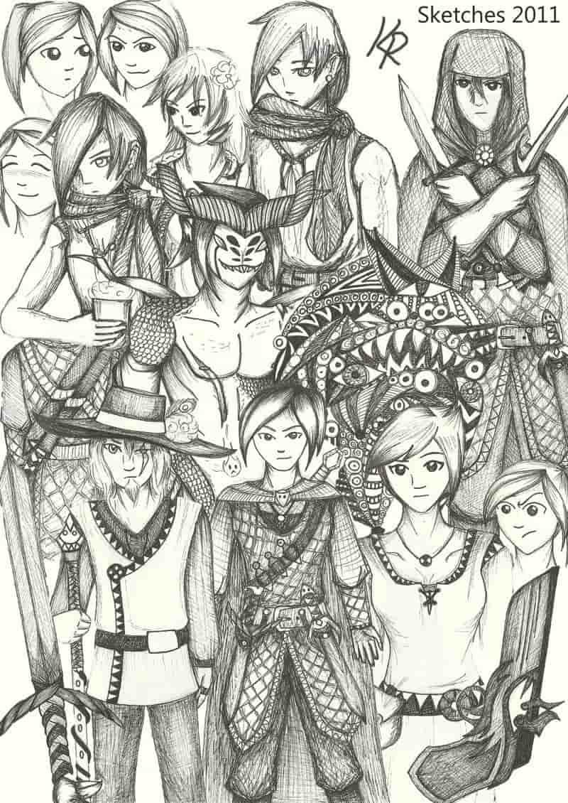 Sketches sketches sketches