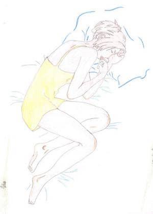 Beim Schlafen