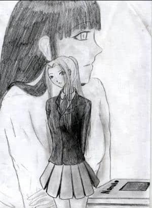 Sakura und Hinata - School time