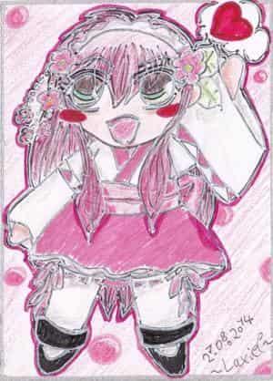 CupCake Commando - Maid Cards Vol.1: Pink WaLoli Maid Sakura