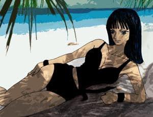 Nico Robin - Beach and Sun