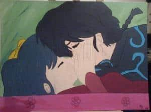 Ranma und Akane Acryl auf Leinwand