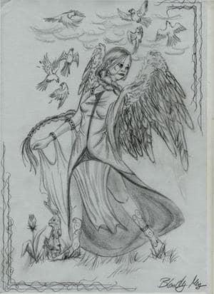 Engel mit Zopf