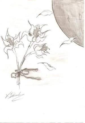 Lilyen im Mondschein