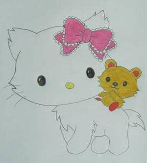 Charmmy Kitty mit Teddy