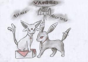 Psiana & Nachtara als Vampire