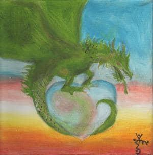 A Dragon for Foxy (Valentinstagbild)