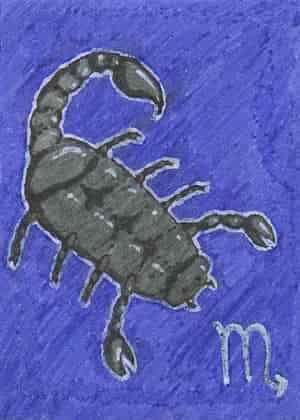 KaKAO-Karte #5: Skorpio -glow in the dark-