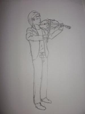 Geigenspieler (unausgemalt)