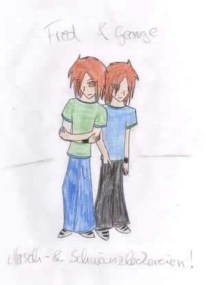 Fred & George (farbige Skizze)