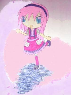 Pink Little Doll Chibi