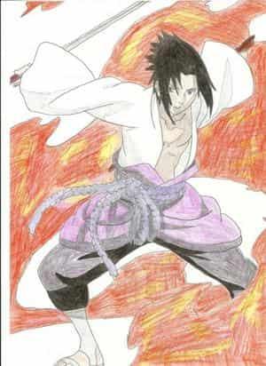 Sasuke im Feuerversteck