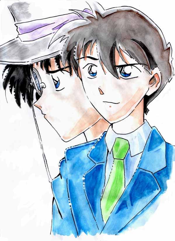 Ok god, did I really draw that ?? Shinichi & Kid