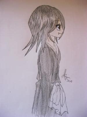 Rukia Shinigami mit Zähnchen