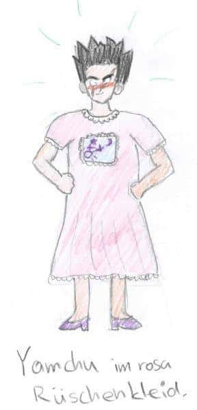 Yamchu im rosa Kleid *ggg*