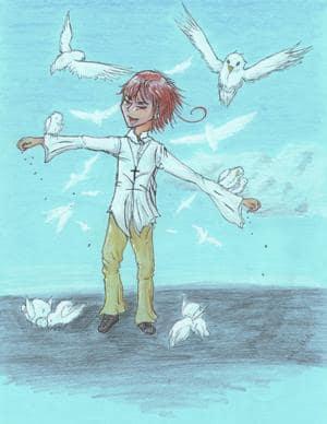 weiße Vögel