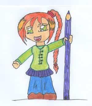 Chibi mit Stift