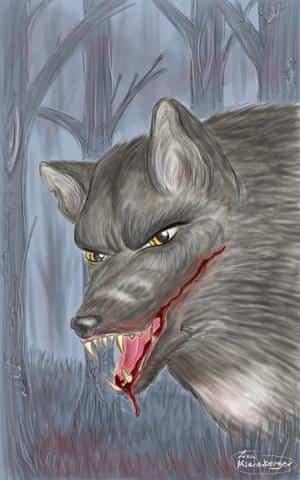 Wolf -blood dripping-