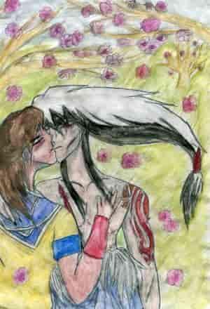 Hanami-Liebe unter Kirchblüten