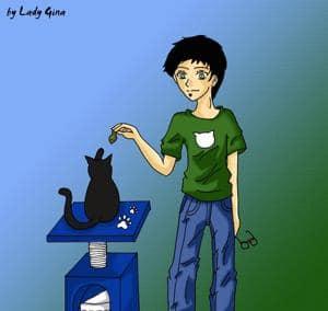 Cat likes fish ;D