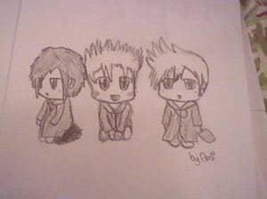Zexion, Demyx and Roxas Chibi