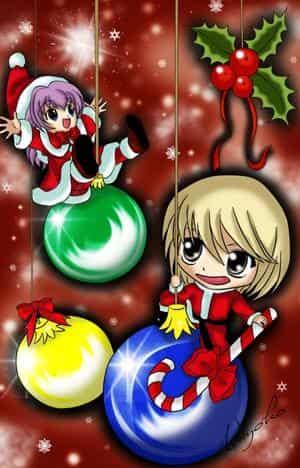 Weihnachts-Motiv mit unserem Anime-Maskottchen