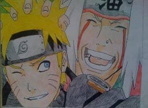 Naruto und Jiraiya