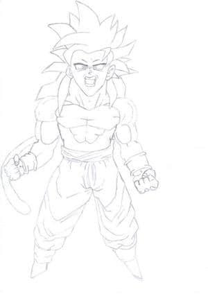 Son Goku Super Sayajin 4
