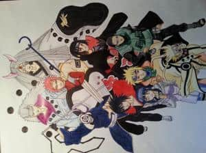 Fanart zu meinen Naruto Lieblings Figuren