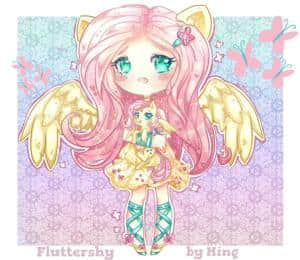 Fluttershy (MLP) Human / Chibi version