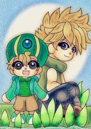 Matt und TK aus Digimon Adventure