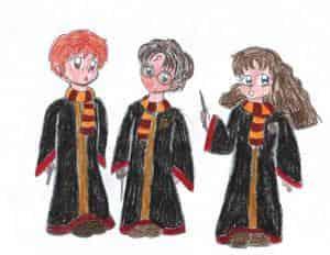 Harry Potter mit Freunden