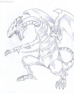 Laserball des blue-eyed white Dragon