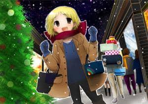 Das Animemanga-Maskottchen auf Shopping-Tour