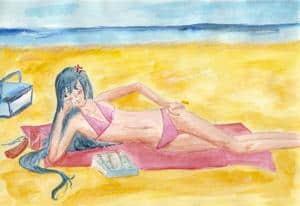 Kanda im Bikini