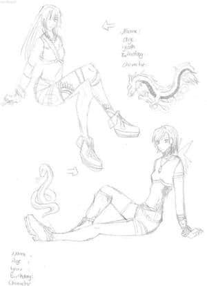 skizze chara design
