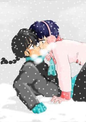 Snow is falling...