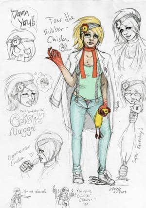 Crispy Nugget - Die Rache des Gummihuhns(Character Design)