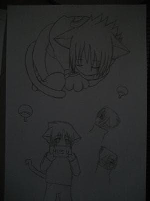 Neko Sasuke - Skizzen