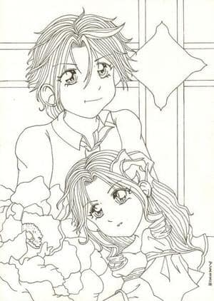 Haruka und Michiru Lineart