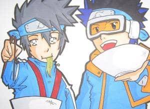 Klein Kakashi and Obito